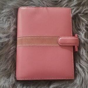 Authentic Filofax Sm planner agenda pink leather
